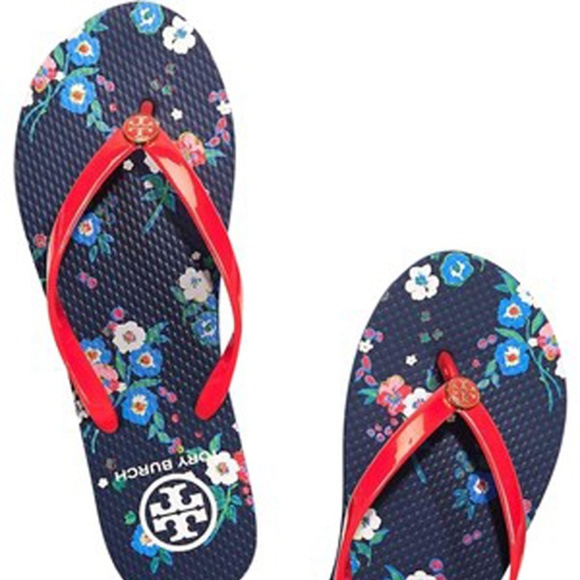 dbb1262dc Tory Burch Red Pansy Bouquet thin Flip Flop 9
